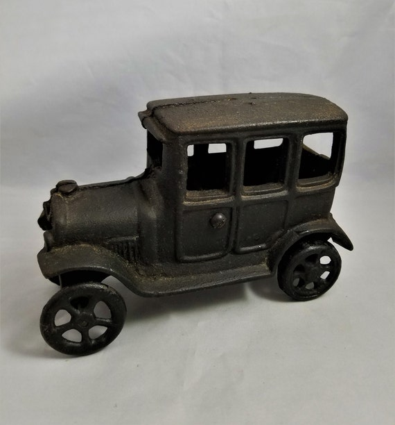 Cast Iron Ford Model T Box Truck, Cast Iron Box Truck Toy, Mid Century Man  Cave Decor, Gift For Him, Fathers Day Gift, Gangster Car,