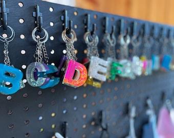 Keychains, Initial keychain, Letter keychain, custom keychains, personalized keychain, number keychain