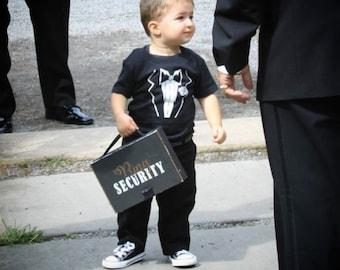 Ring Security t-shirts, toddler t-shirt, tuxedo t-shirt, ring bearer t-shirt, ring security, kid's t-shirt