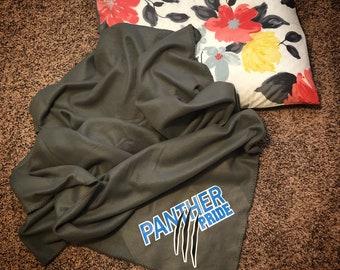 Blanket, Panther Blanket, Custom Blanket, Personalized Blanket, Fleece Blanket, Panther Pride