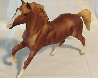 Vintage Breyer Brown & White Horse Figurine