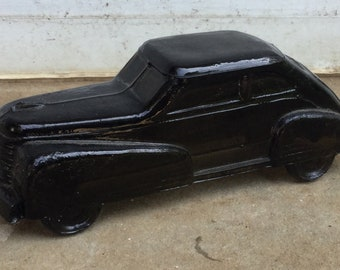 1940's Smoked Glass Candy Container Automobile