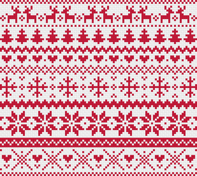 4d2f2308aa753a Christmas red fair isle modern cross stitch pattern etsy jpg 3000x2680 Red fair  isle pattern