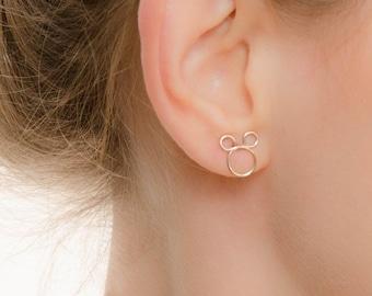 SALE - Mickey Mouse Studs - Mickey Stud Earrings  - Mouse Earrings - Mickey Studs - Disney Jewelry - Disney Earrings