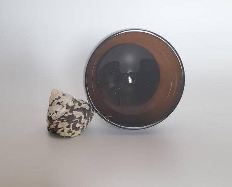 Mid Century Sherbet Goblet Dark Brown Set Of 3 Dark Amber Champagne Coupe Sherbet Glasses Gorham Style Barware