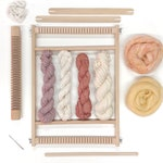 Weaving kit for beginners / Woven wall hanging kit / Small weaving loom with yarn and accessories / Adults weaving DIY kit / learn to weave