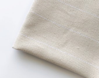 Monk's cloth 2 x 2 grid in cotton / Oxford Punch Needle Rug Hooking backing fabric / Assorted sizes 0.5 meter, 1 meter, 2 m, 3 m