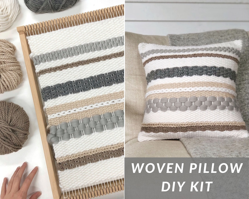 Pillow weaving kit intermediate / Woven pillow kit / Large image 0