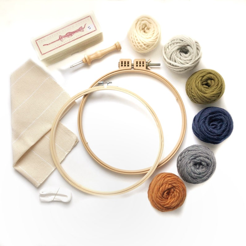 PREORDER  Punch needle kit for beginners / Oxford punch image 0