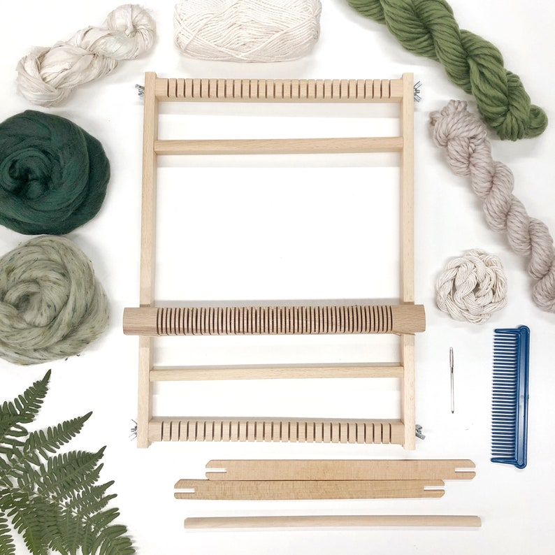 Weaving kit for beginners / Woven wall hanging kit / Small image 0