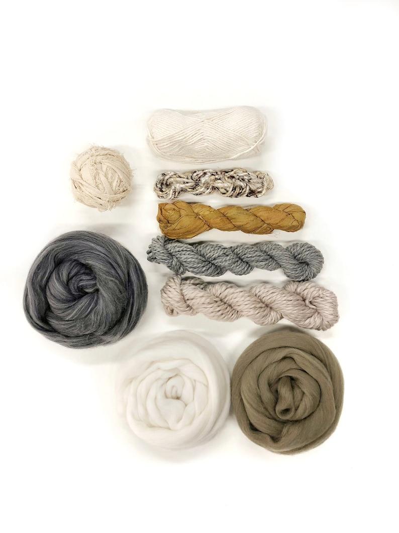 Weaving yarn pack / Fiber bundle woven wall hanging / Natural image 0