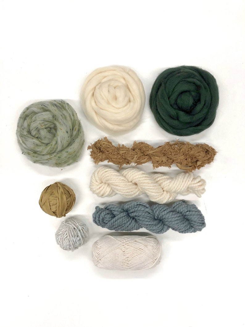 Weaving yarn pack / Fiber bundle woven wall hanging / Natural image 0