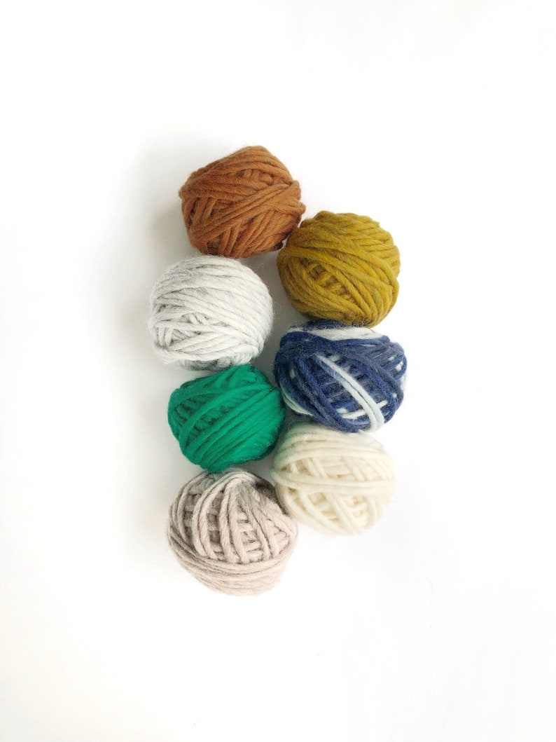 Yarn pack for punch needle / Fibre pack 100% pure wool / Super image 0