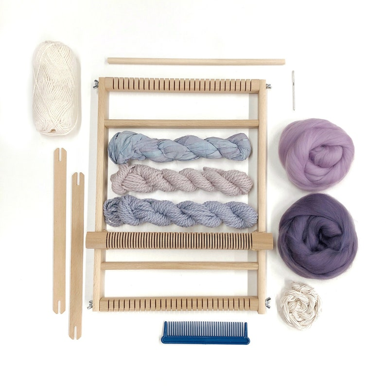 Weaving kit for beginners / Woven wall hanging kit / DIY image 0