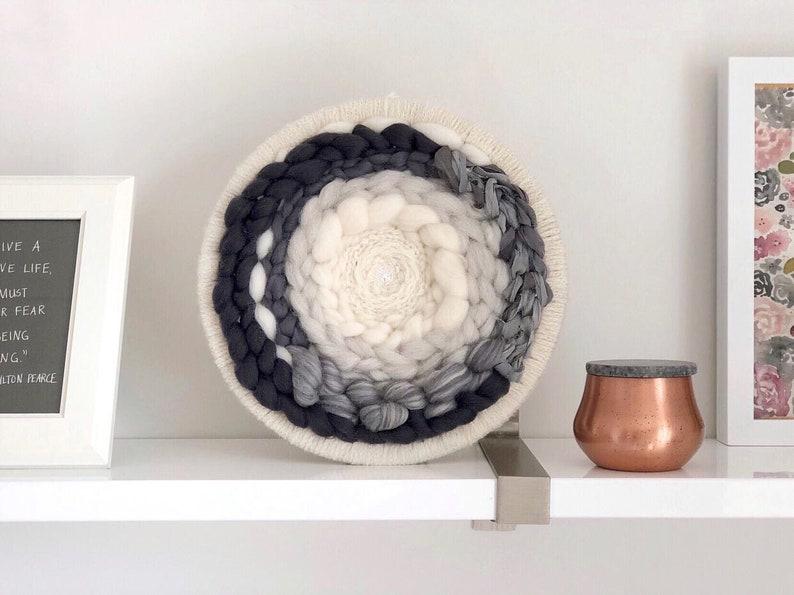 Round weaving / Circular woven wall hanging / Circle image 0