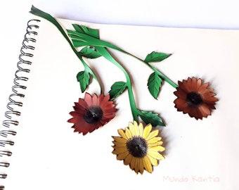 Sunflower flower page mark. Sunflower flower pagers. Reading point. Marker beautiful flower book. Nice detail gift sunflower flower