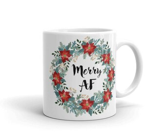 Merry AF Holiday Mug