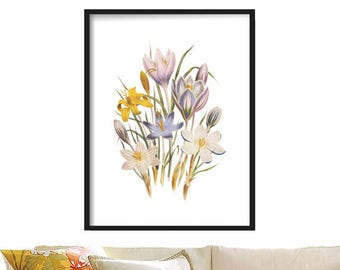 Botanical Print - Poster - Extra Large Wall Art - Print - Wall Hanging - Botanical Art - Botanical Wall Print - Home Decor  - Vintage Art