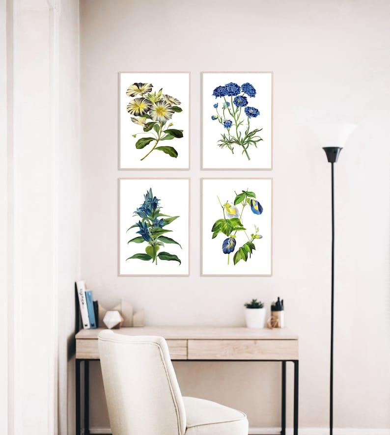 Botanical Print Set of 4  Botanical Illustration  Botanical image 1