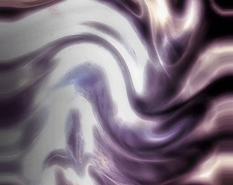 Art Print: SMOKE and MIRRORS, abstract art, contemporary art, modern art, wall art, fine art, abstract painting, gray art, purple art,