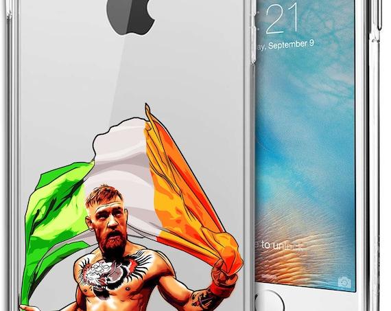 Connor McGregor Transparent Tpu Case for Apple iPhone 5/SE; iPhone 6/6s (4.7); iPhone 6/6s Plus (5.5); iPhone 7; iPhone 7 Plus