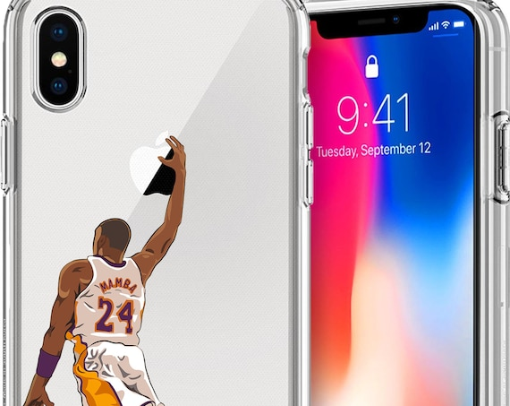 Mamba Kobe Basketball Series Clear TPU Case for Apple iPhone XS/XS Max; X; 8/8 Plus; 7/7 Plus; 6s/6s Plus; 5s/5SE
