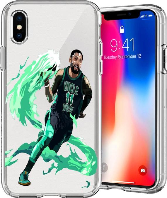 "Kyrie ""Uncle Drew"" Irving Transparent Tpu Case for Apple iPhone XS/XS Max; X; 8/8 Plus; 7/7 Plus; 6s/6s Plus; 5s/5SE"