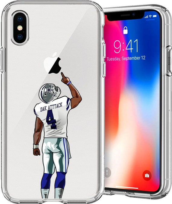 Dak Attack Transparent Football Series Tpu Case for Apple iPhone XS/XS Max;X; X; 8/8 Plus; 7/7 Plus; 6s/6s Plus; 5s/5SE