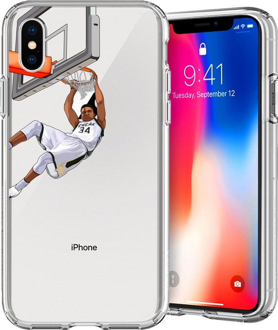 The Greek Freak Basketball Series Clear TPU Case for Apple iPhone XS/XS Max; X; 8/8 Plus; 7/7 Plus; 6s/6s Plus; 5s/5SE