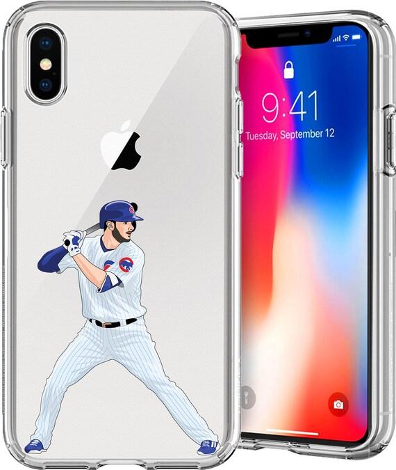 Kris Bryant Baseball Series Transparent TPU Case for Apple iPhone 5; iPhone 6/6s (4.7); iPhone 6/6s Plus (5.5); iPhone 7; iPhone 7 Plus