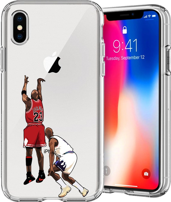 MJ The Shot Basketball Series Transparent tpu Case for Apple iPhone XS/XS Max; X; 8/8 Plus; 7/7 Plus; 6s/6s Plus; 5s/5SE