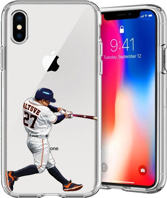 Gigante Jose Altuve Baseball Series Transparent TPU Case for Apple iPhone XS/XS Max; X; 8/8 Plus; 7/7 Plus; 6s/6s Plus; 5s/5SE
