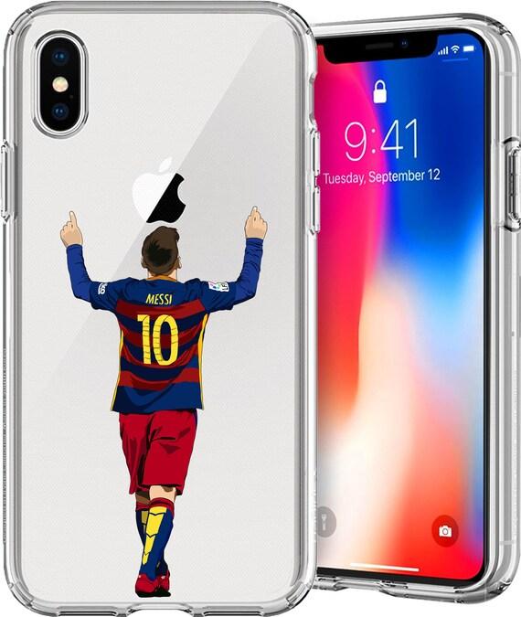 Lionel Messi Transparent Soccer Series Tpu Case for Apple iPhone XS/XS Max; X; 8/8 Plus; 7/7 Plus; 6s/6s Plus; 5s/5SE