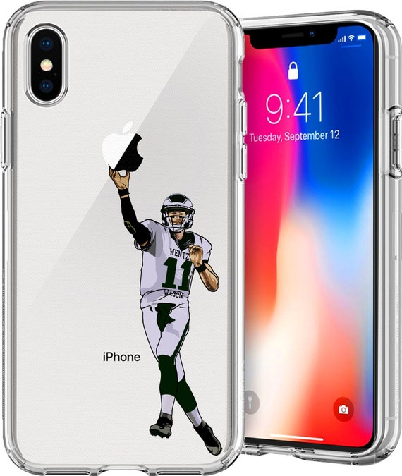 Carson Wentz Wagon' Football Series TPU Case for Apple iPhone XS/XS Max; X; 8/8 Plus; 7/7 Plus; 6s/6s Plus; 5s/5SE