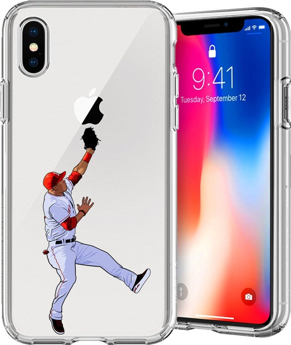 Mike Trout Baseball Series Transparent TPU Case for Apple iPhone XS/XS Max; X; 8/8 Plus; 7/7 Plus; 6s/6s Plus; 5s/5SE