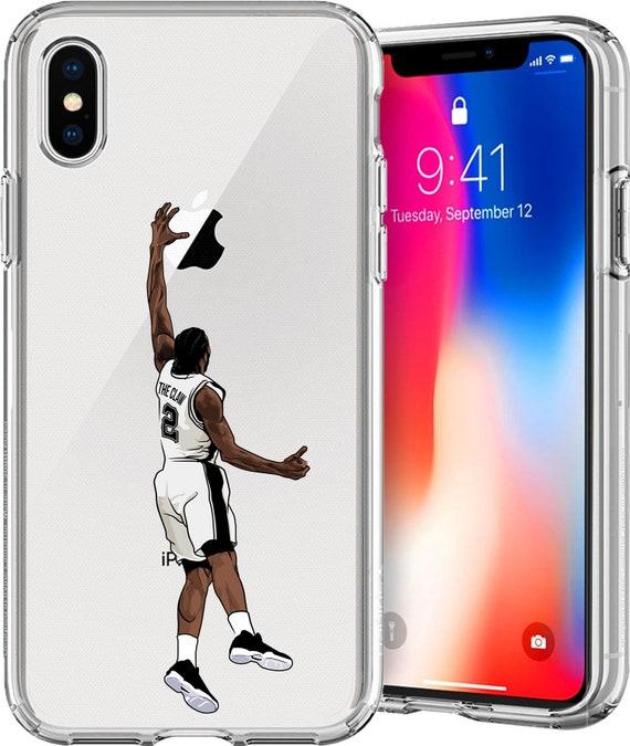 Kawhi Leonard Basketball Series Transparent TPU Case for Apple iPhone X; 8/8 Plus; 7/7 Plus; 6s/6s Plus; 5s/5SE