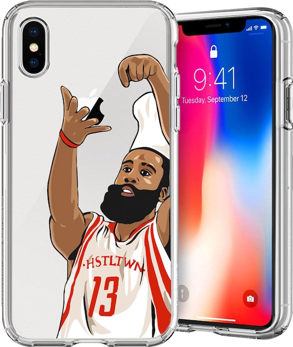Chef Harden Basketball Series Clear TPU Case for Apple iPhone XS/XS Max; X; 8/8 Plus; 7/7 Plus; 6s/6s Plus; 5s/5SE