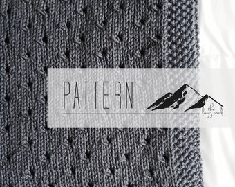 The Teagan Baby Blanket Knitting Pattern