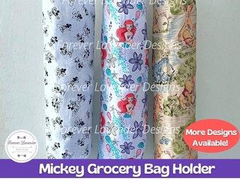 Mickey Grocery Bag Holder, Plastic Bag Holder, Bag Storage, Grocery Bag Dispenser, Bag Organizer, Kitchen Storage, Housewarming Gift