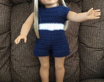 American Girl Doll Crocheted 3 Piece Shorts Outfit