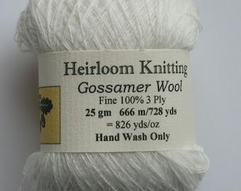 Gossamer Wool or Merino ~ 6 sent for every 5 bought ~  25g New White shade