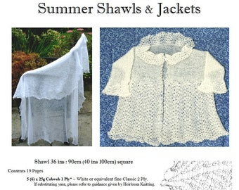 Summer Shawls and Jackets - Written & Charted pattern pdf ~ see Offer details!
