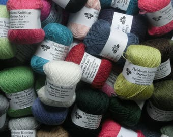Merino Lace ~ Cobweb weight equivalent - buy 5 get 6th free