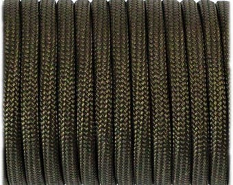 Paracord 550 Type 3 - Army Green - Genuine Mil Spec Parachute Cord