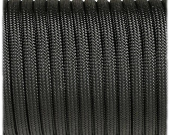 Paracord 550 Type 3 - Black - Genuine Mil Spec Parachute Cord