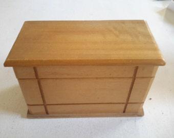 Vintage Handmade Wooden Box