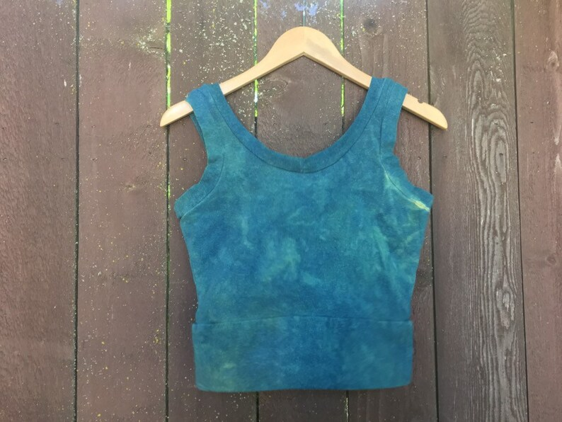Organic Cotton Custom Made To Order Kundalini Crop Top Hemp Plant Dyed /& Shungite Infused for EMF Protection