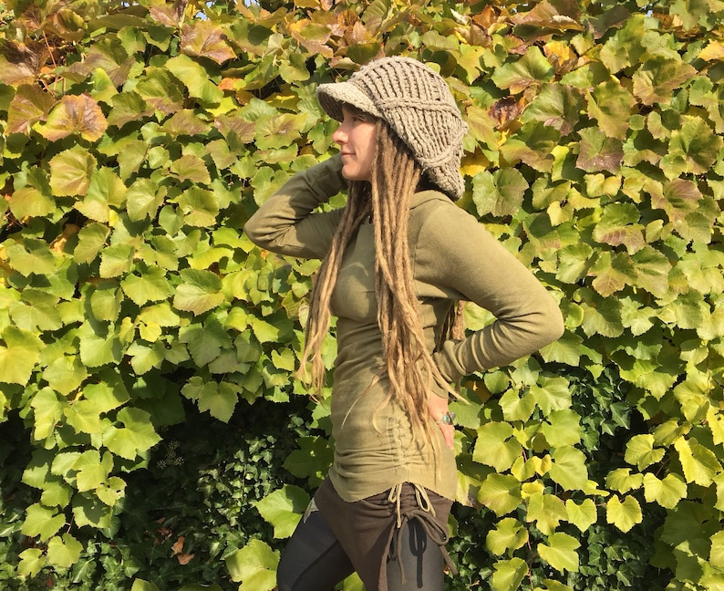 Best Friend Baselayer Hemp Waffle Thermal Hoodie * Herbal Dyed & Shungite  Infused for EMF Protection * Custom Made To Order