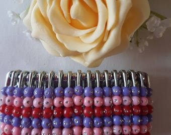 Stylish Multi Coloured Safety Pin Bracelet