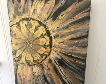 Metallic Flower Gallery Wrapped Painting